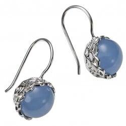 Blau ist das neue Schwarz - CAI Ohrringe Pastellblau